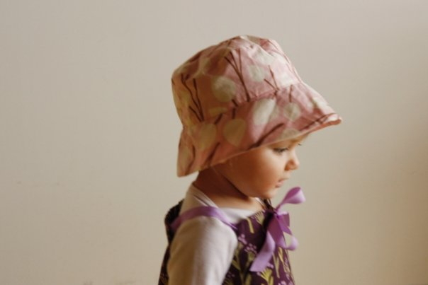 Baby girl with colorful hat